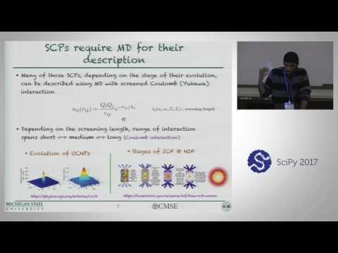 Sarkas - A Fast Pure Python Molecular Dynamics Code | SciPy 2017 | Gautham Dharuman
