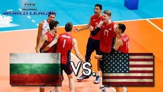 USA vs Bulgaria - 2016 FIVB World League - ALL ACTION NO BREAKS