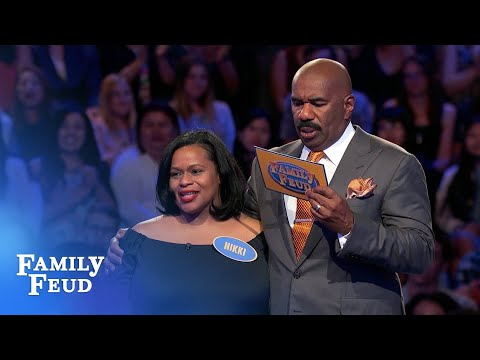 Nikki needs 32 points on her final answer | Family Feud thumbnail