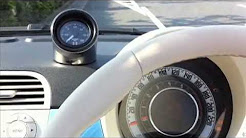 FIAT500C TwinAir meets STACK boost gauge in ALESSE Chronotime