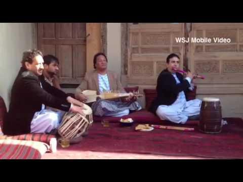Afghan musicians perform at a winter bazaar held in Kabul's old city. #Afghanistan