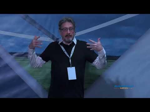 John McAfee at Blockchain Nation Miami 2018
