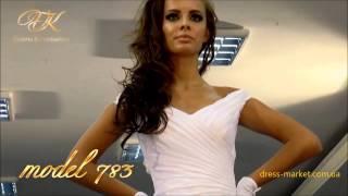 Атласное свадебное платье №783