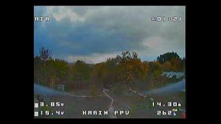 Фристайл на гоночном квадрокоптере над огородом. (DVR)