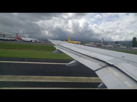 Taking off from San Jose Costa Rica Jetblue A320