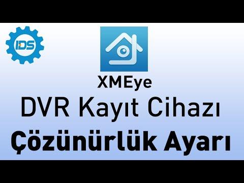 DVR Kayıt Cihazı - Görüntü çözünürlüğünü ayarlama - XMEYE