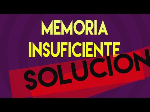 Solucionar error Memoria Insuficiente - WINDOWS 10