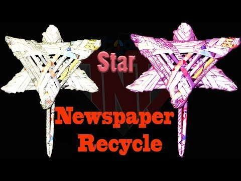 How To make Simple & Easy Newspaper Star || DIY Newspapers Recycle Ideas || Homemade Paper Crafts
