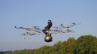 Repeat youtube video World's first manned flight with an electric multicopter