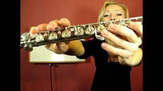 Урок 3, флейта. Ноты ля, соль