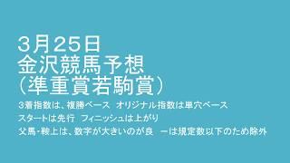 平成30年3月25日金沢競馬予想(準重賞若駒賞) thumbnail