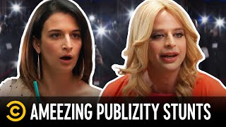 The Top 5 Most Ameezing PubLIZity Stunts (feat. Jenny Slate & Seth Rogen) - Kroll Show