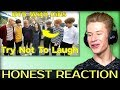 HONEST REACTION to BTS With Girls Try Not To Laugh