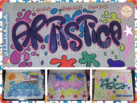 Como marcar cuadernos con timoteo dulcesdetallesquilla for Caratulas de artes plasticas para secundaria