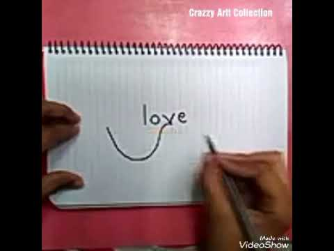 How To Draw Love Bird From a English Word