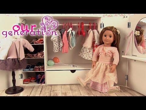 Chambre de Poupée Armoire Our Generation Vêtements et Accessoires