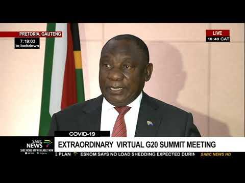 Coronavirus I G20 Leaders'  focus on a collective response: Ramaphosa