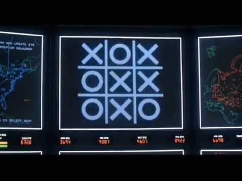 Крестики-нолики в фильме Военные игры (1983)
