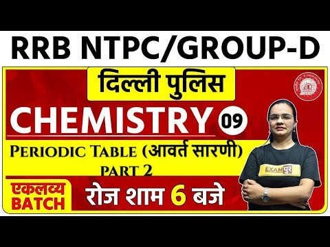 Railway NTPC / RRC Group D / Delhi Police 2020 | CHEMISTRY | Shagun Ma'am | 09 |  Periodic Table