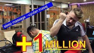 ASMR turkish  sleep massage : head,body,arm,face hard massage : uyutan kafa sırt kol berber masaj
