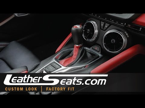 2016 Fireball Camaro SS Interior – How To Install Leather Shift Boot – LeatherSeats.com