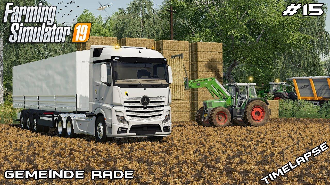 Selling straw bales & selling grain | Animals on Gemeinde Rade | Farming Simulator 19 | Episode 15 thumbnail
