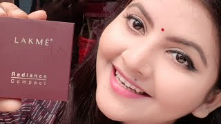 Lakme radiance compact review amp demo AFFORDABLE compact powder for beginners for everyday RARA