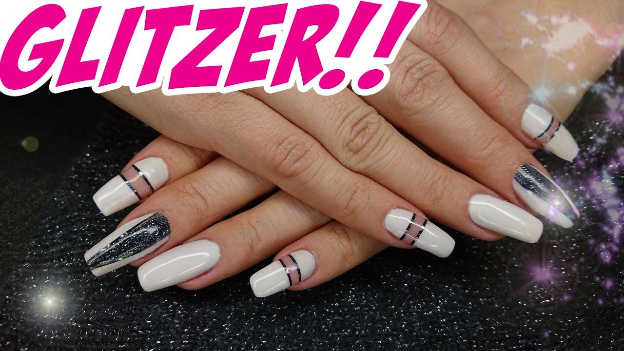Nail Art #9 Silvester Glitzer Party - Bling Bling Nail Design - YouTube
