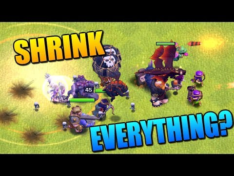 CAN YOU SHRINK AN ENTIRE ARMY? Shrink Trap Attacks - Clash of Clans New Defense! CoC Clashiversary!