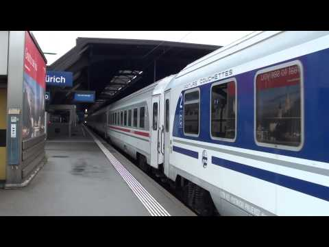 Switzerland: Zurich Hb - Empty stock from Zagreb / Graz - Zurich overnight train 05/09/14