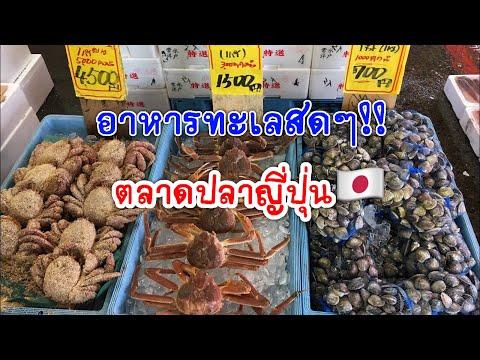 อาหารทะเลสดๆ ที่ญี่ปุ่น |ตลาดปลาในญี่ปุ่น ของสดใหม่ ขนาดใหญ่ กุ้งหอยปูปลาครบ ขายแกะกินสดๆได้
