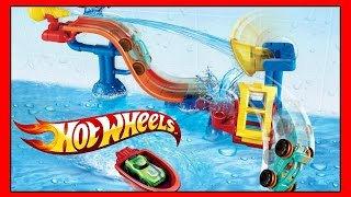 HOT WHEELS Splashdown Station Track You Can Put in Bath!  WATER TOY And FUN Splash Rides Car!