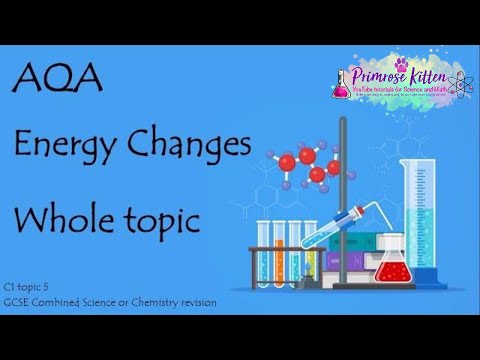The Whole of AQA - ENERGY CHANGES. GCSE 9-1 Chemistry or Combined Science Revision Topic 5 for C1