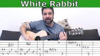 Fingerstyle Tutorial: White Rabbit (Jefferson Airplane FULL Instrumental) - Guitar Lesson w/ TAB