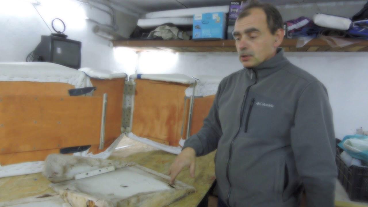 ремонт сидений и салона американского катера