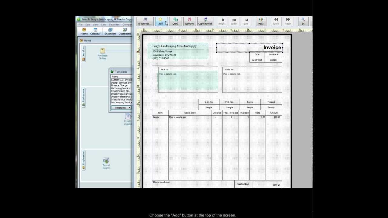 Adding Custom Fields To QuickBooks Invoice Templates YouTube - Quickbooks invoice layout