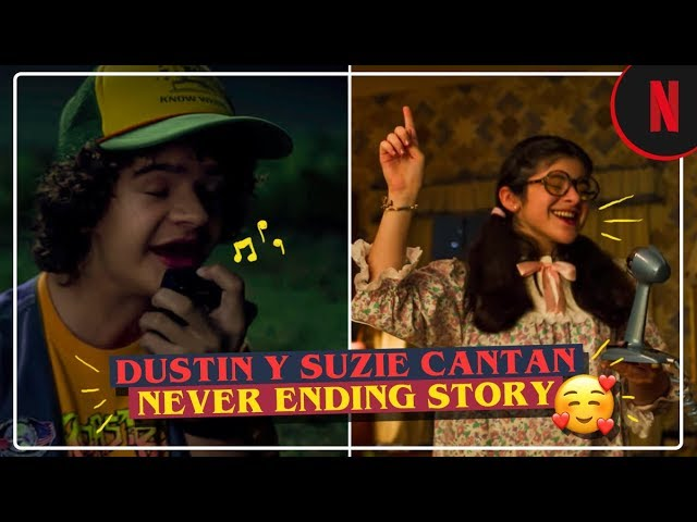 """Dustin y Suzie cantan """"Never Ending Story"""" [Clip] 