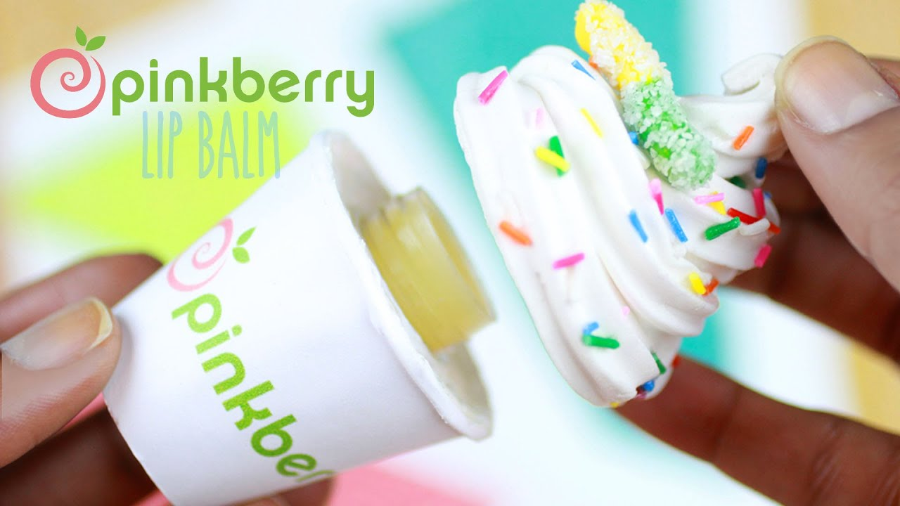 DIY Pinkberry Lip Gloss Jar