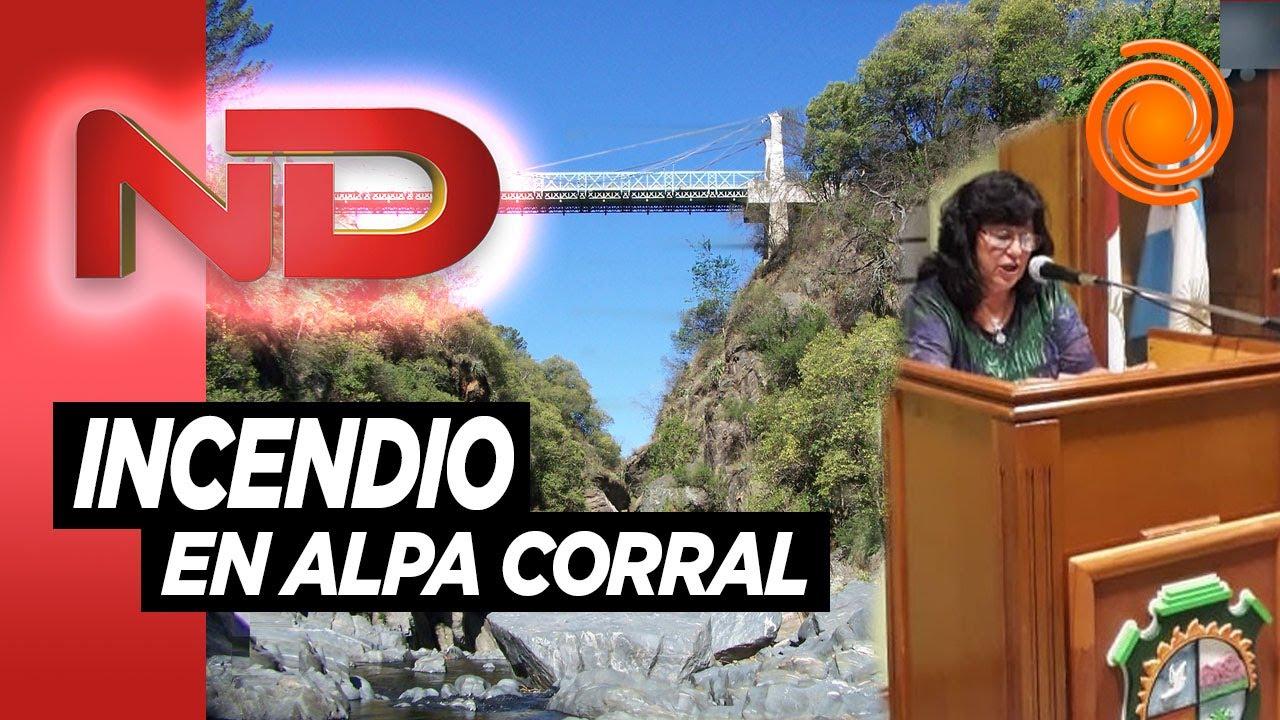 """Intendenta de Alpa Corral: """"Si supiera quién prendió fuego lo pondría frente a un paredón"""""""