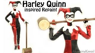 Harley Quinn inspired Doll / Barbie Repaint