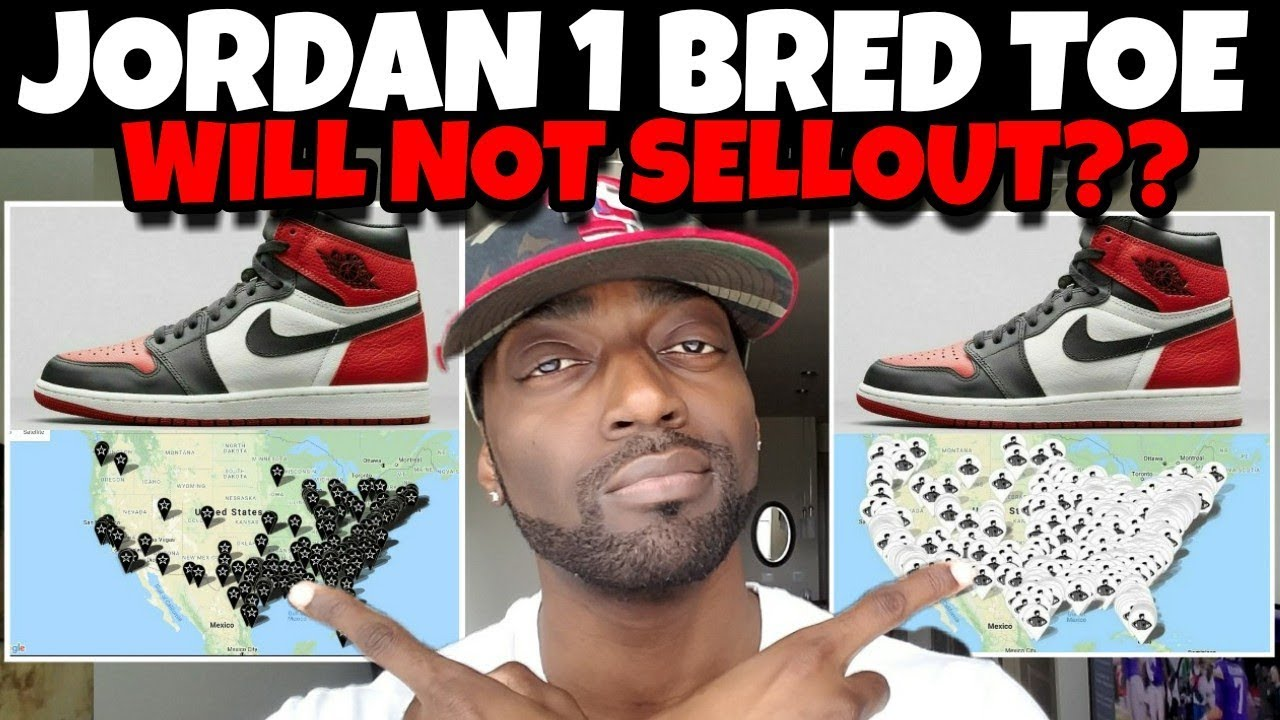 f986badb2d5660 The Jordan 1 Bred Toe WILL NOT SELLOUT! MAJOR GRS  PREDICTION VIDEO ...