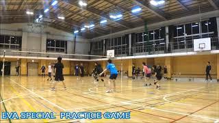 【男女混合バレーボール】SPECIAL練習試合#3-4 EVA25点2ゲーム[Commentary]解説 Men and Women Mixed Volleyball JAPAN TOKYO