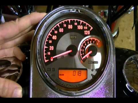 how to configure and setup the harley davidson speedometer tachometer  #70900070a - youtube