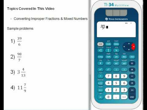 Converting Improper Fractions and Mixed Numbers.wmv - YouTube