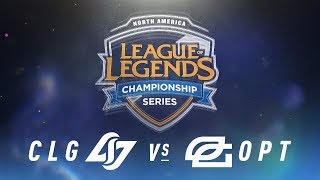 CLG vs. OPT - Week 9 Day 1 | NA LCS Spring Split | Counter Logic Gaming vs. OpTic Gaming (2018)