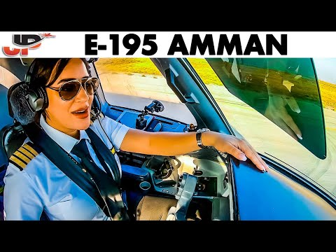 Piloting the Embraer 195 from Amman | Cockpit Views