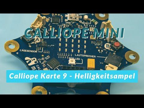 Calliope mini - Helligkeitsampel - LPM Lernkarte 9