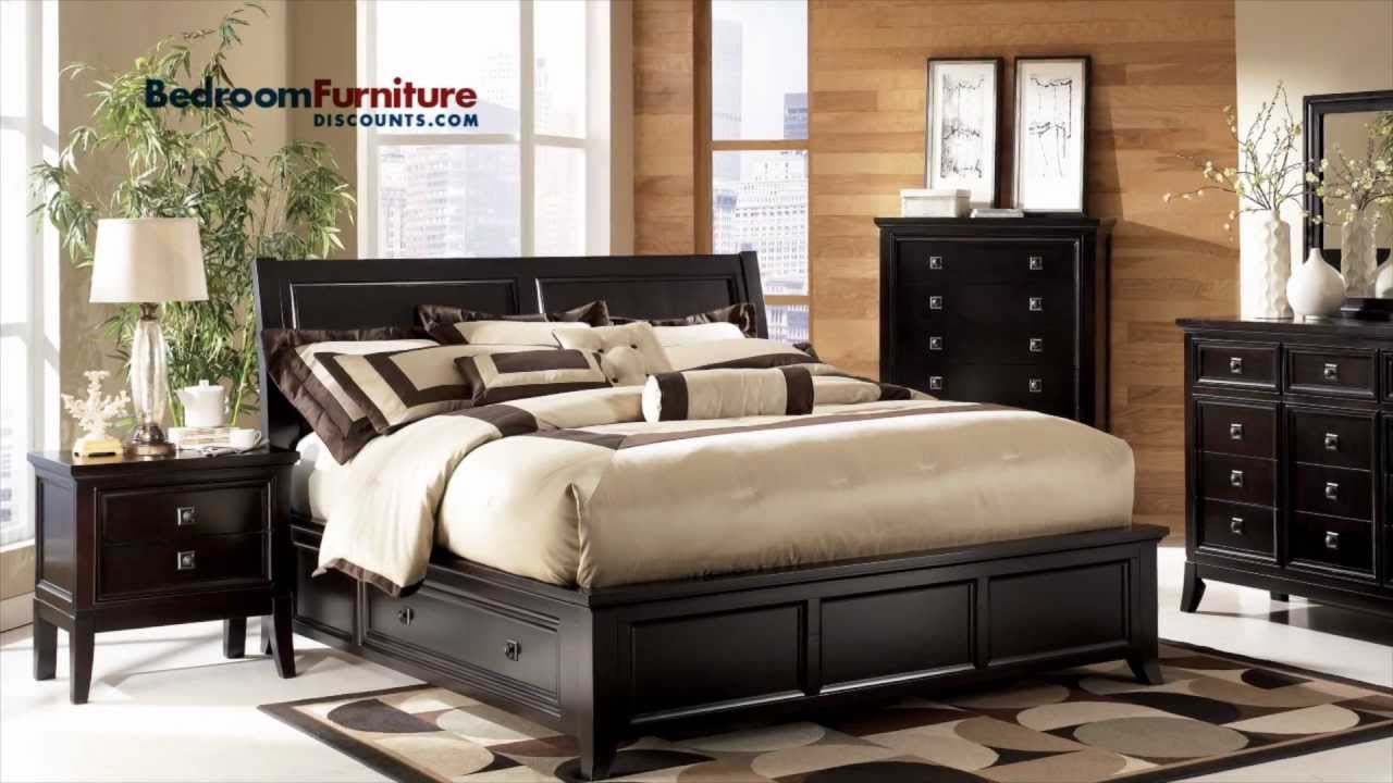 Ashley martini suite platform storage bedroom set youtube for Ashley furniture bedroom suites