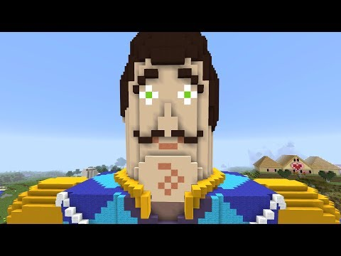MEGA NEIGHBOR TAKES OVER MINECRAFT!!!