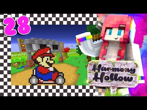 Mario Kart in MINECRAFT?? // Harmony Hollow S3 Modded SMP // EP28